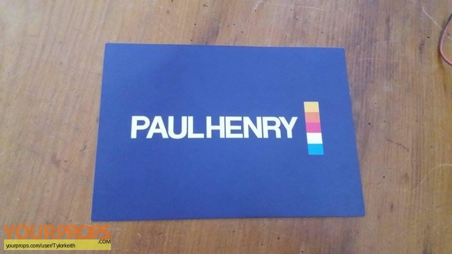 Paul Henry original movie prop