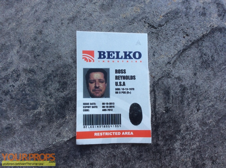 The Belko Experiment original movie prop
