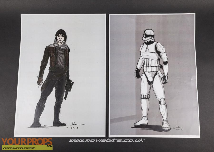 Star Wars  Rogue One original production artwork