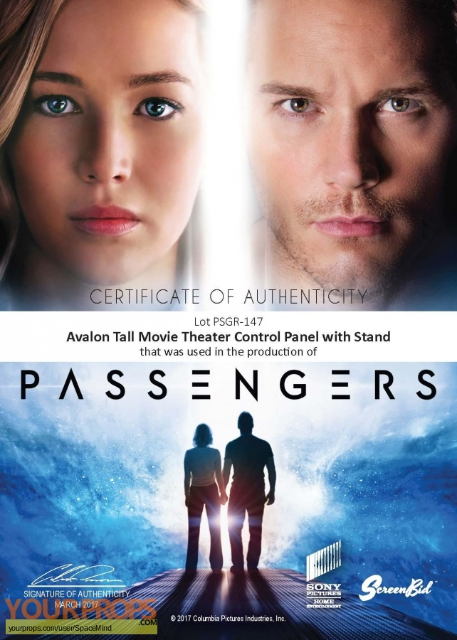 Passengers original movie prop