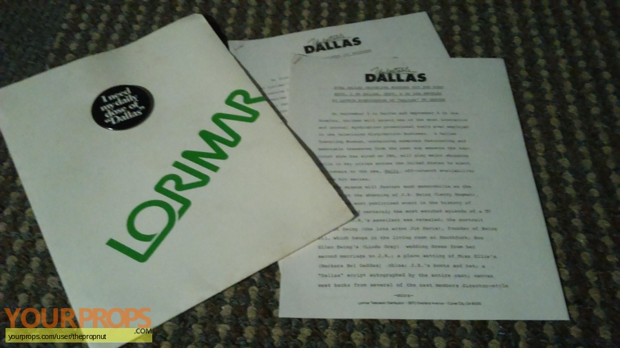 Dallas original production material