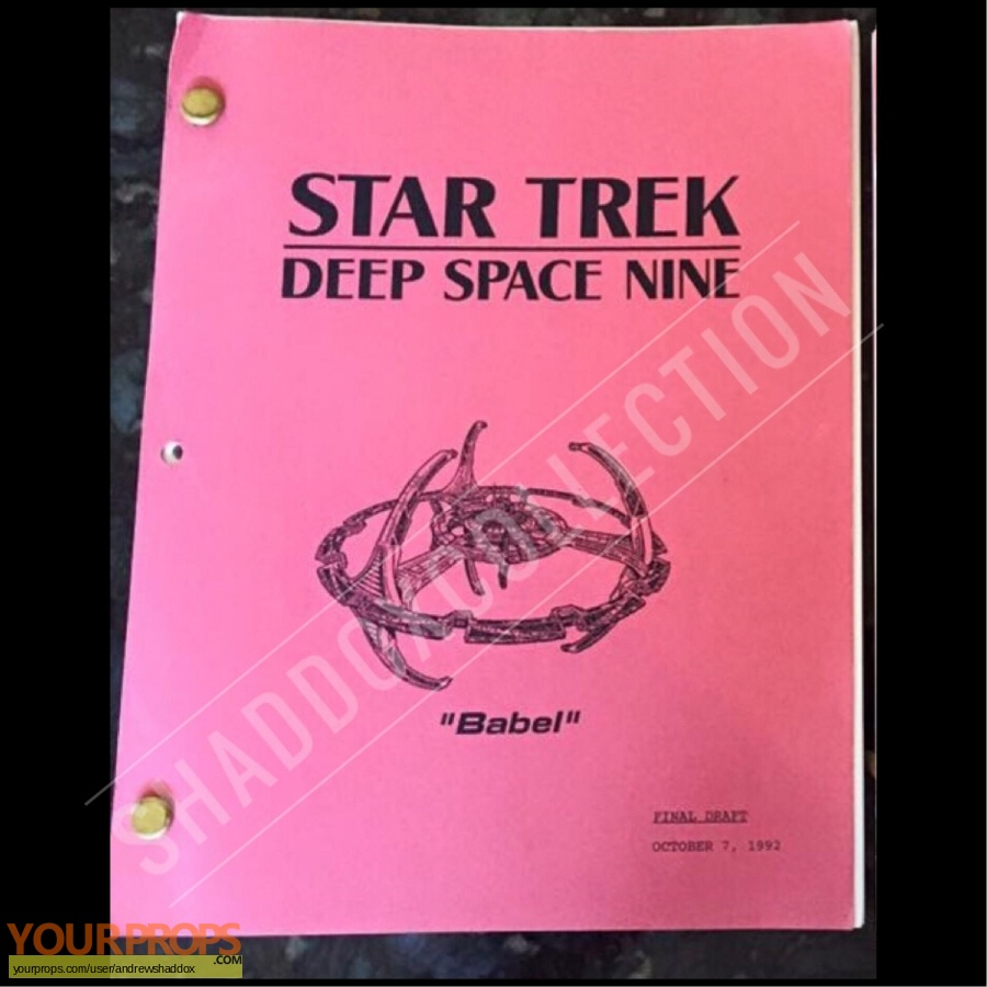 Star Trek  Deep Space Nine original production material