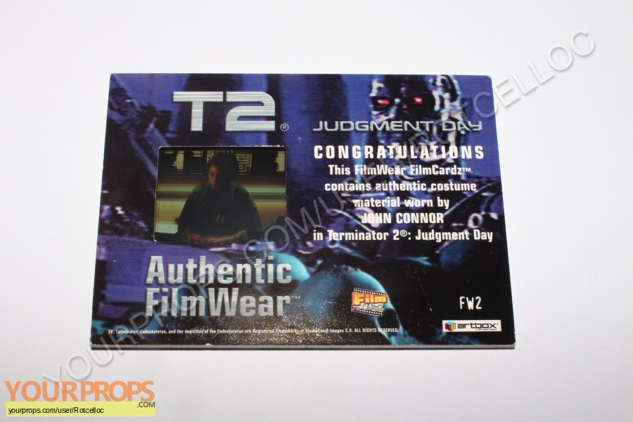 Terminator 2  Judgment Day swatch   fragment movie costume