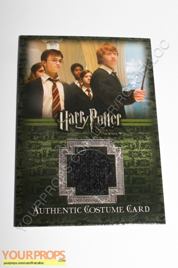 Harry Potter and the Order of the Phoenix swatch   fragment movie costume