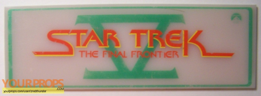 Star Trek V  The Final Frontier original film-crew items