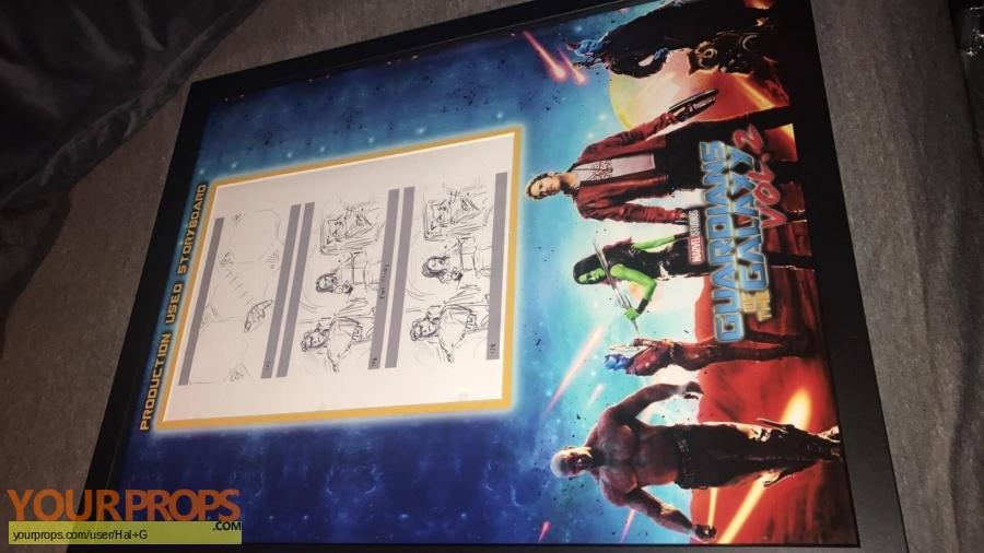 Guardians of the Galaxy Vol 2 original production artwork