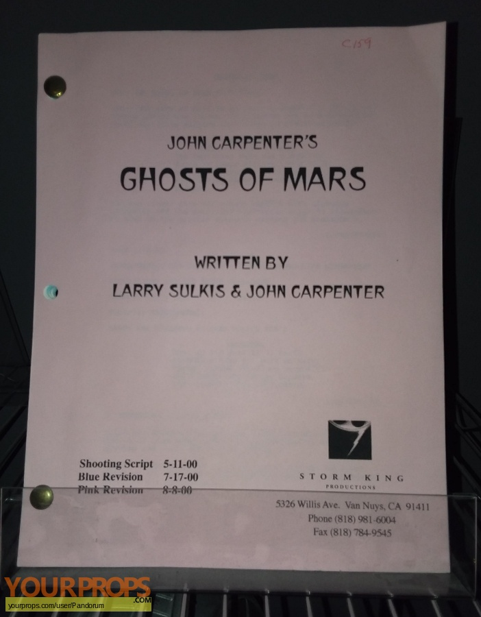 Ghosts of Mars original production material