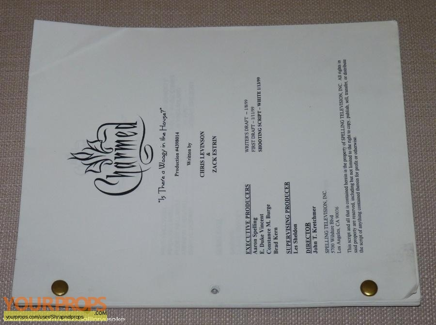 Charmed original production material