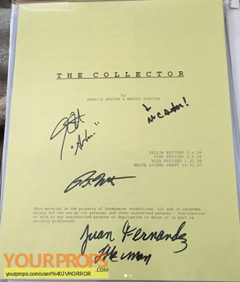 The Collector original film-crew items