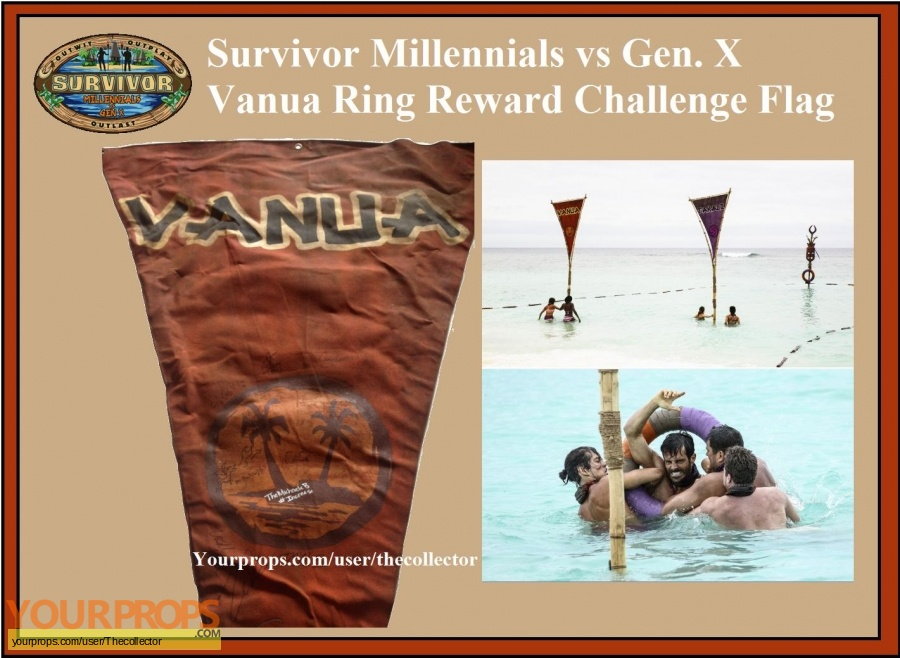 Survivor Millennials vs  Gen X original movie prop