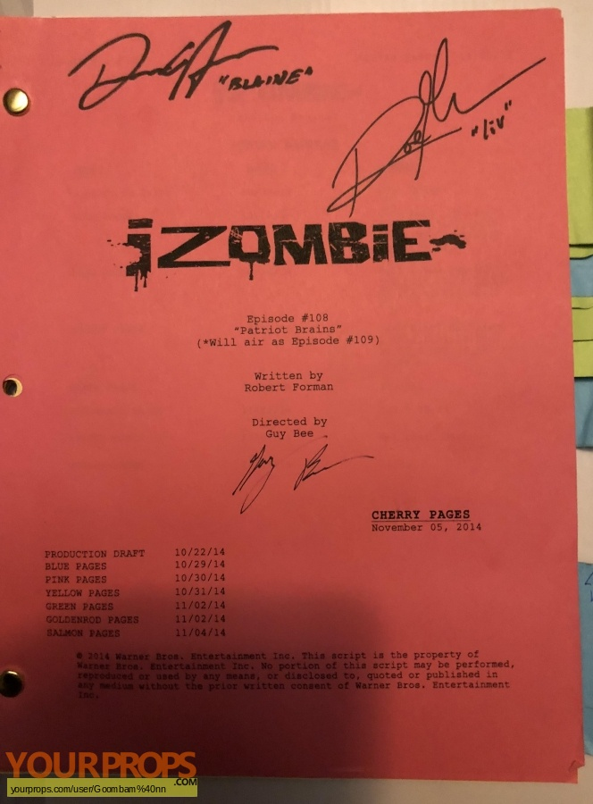 i zombie original production material