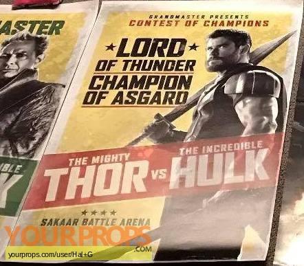 Thor  Ragnarock original movie prop