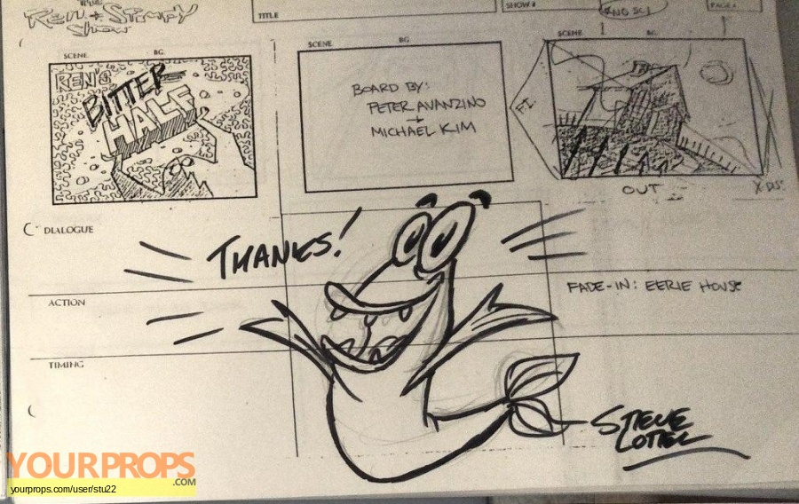 The Ren   Stimpy Show original production material