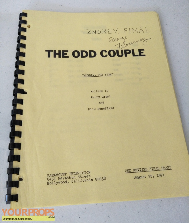 The Odd Couple TV Series original production material