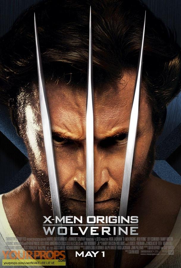 X-Men Origins  Wolverine replica movie prop