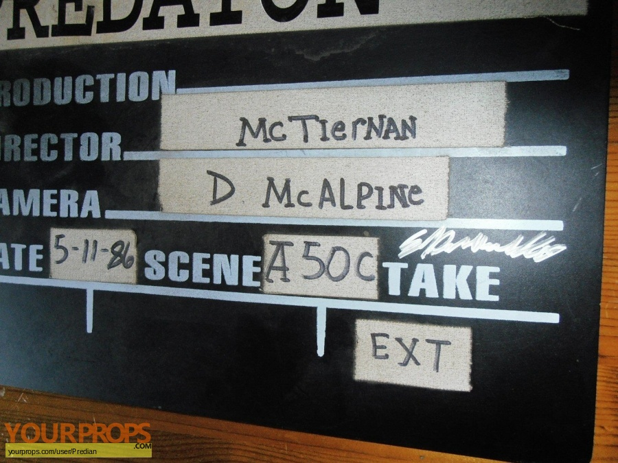Predator original production material