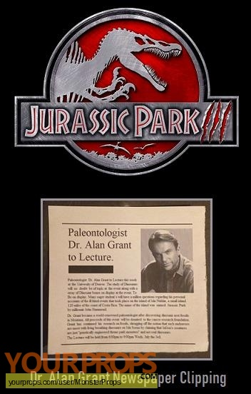 Jurassic Park 3 replica movie prop