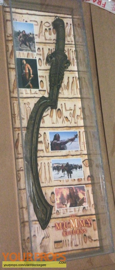 The Mummy Returns original movie prop