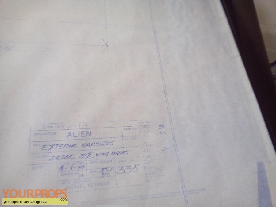 Alien original production artwork