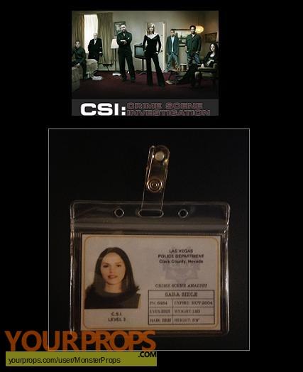 CSI  Crime Scene Investigation replica movie prop