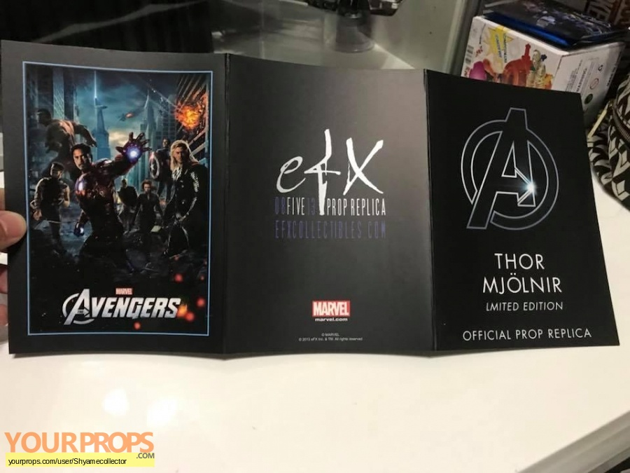 The Avengers replica movie prop