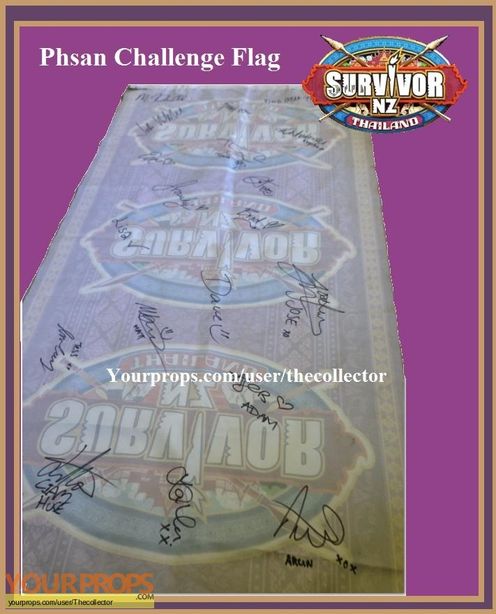 Survivor New Zealand  Thailand original movie prop