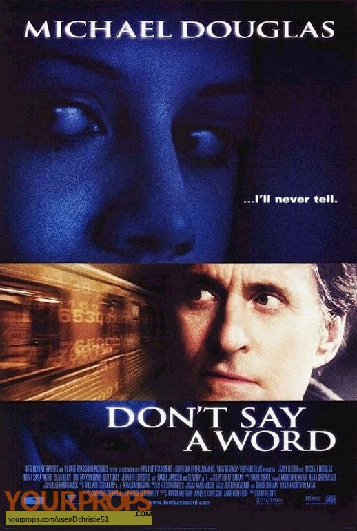 Dont Say A Word original movie prop