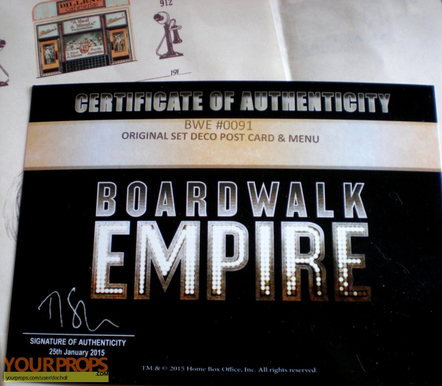 Boardwalk Empire original movie prop