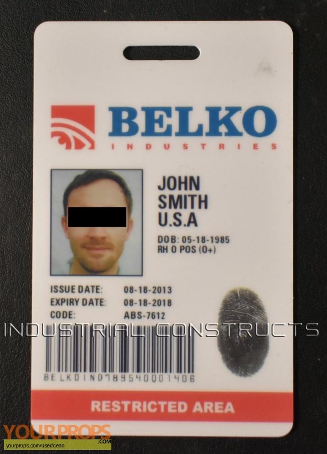 The Belko Experiment Master Replicas movie prop