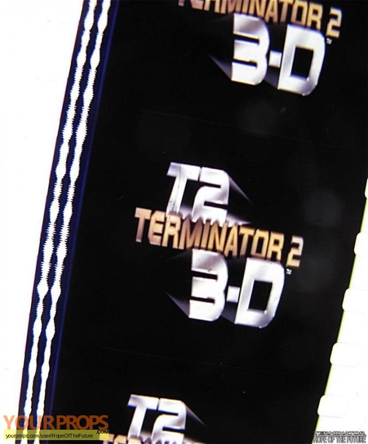 Terminator 3D  Battle Across Time original production material