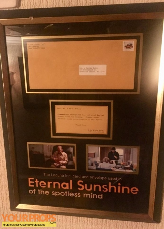 Eternal Sunshine of the Spotless Mind original movie prop