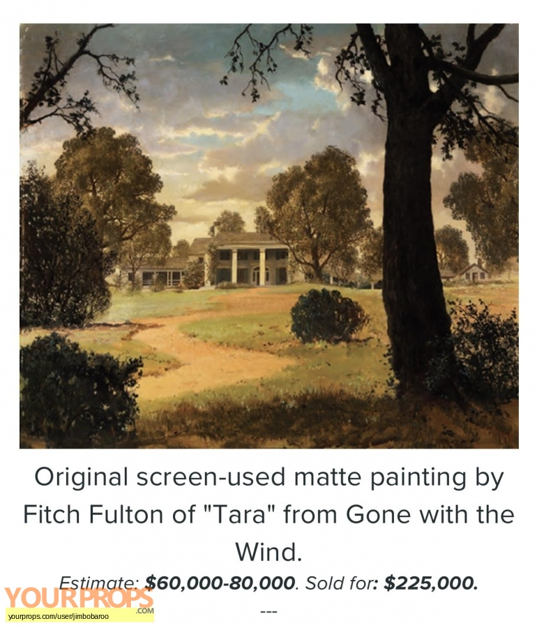 Gone with the Wind replica production artwork
