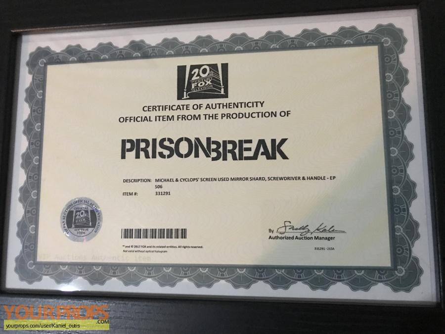 Prison Break Resurrection original movie prop