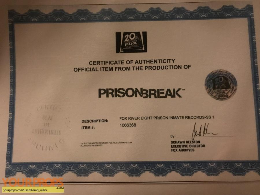 Prison Break replica production material