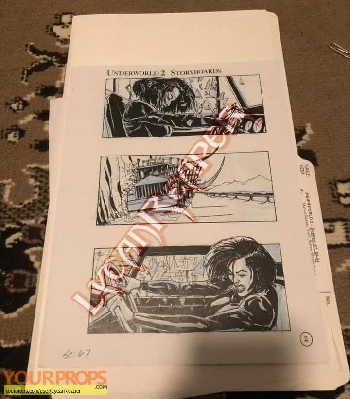 Underworld  Evolution original production material