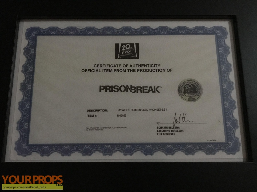 Prison Break original movie prop