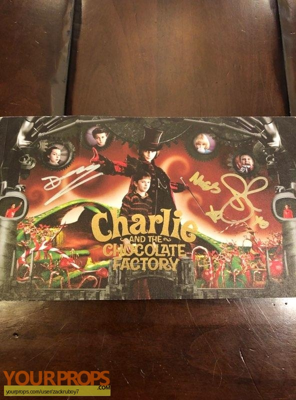 Charlie and the Chocolate Factory original production material