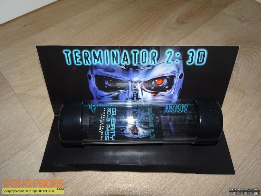 Terminator 3D  Battle Across Time original production material
