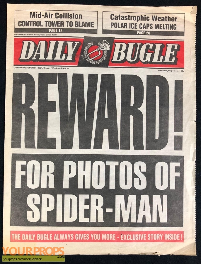 Spider-Man original movie prop