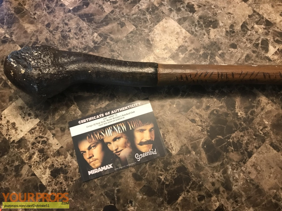Gangs of New York original movie prop weapon