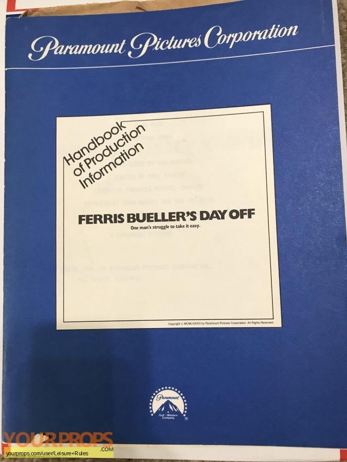 Ferris Buellers Day Off original production artwork