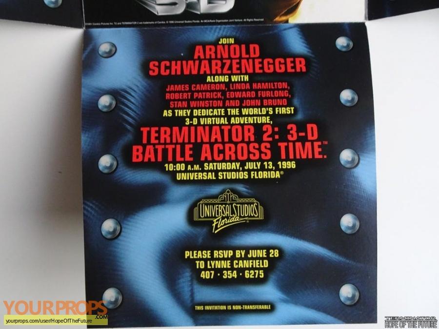Terminator 3D  Battle Across Time original film-crew items