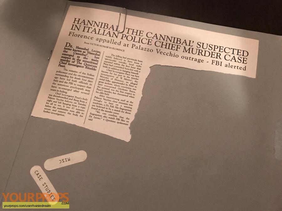 Hannibal original movie prop