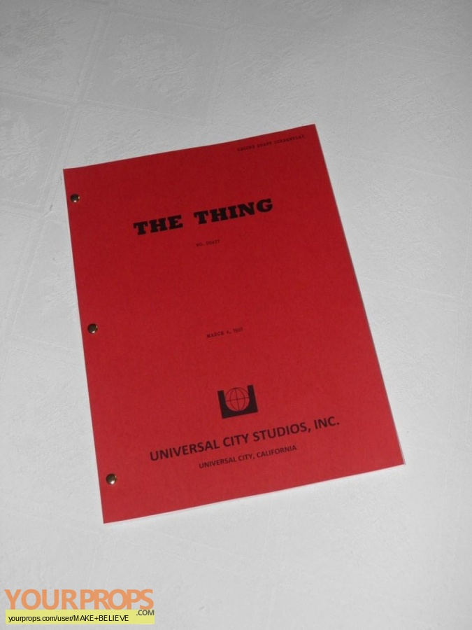 The Thing replica production material