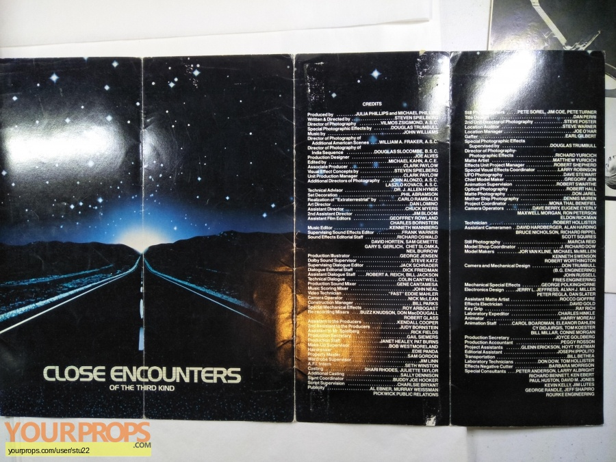 Close Encounters of the Third Kind original production material