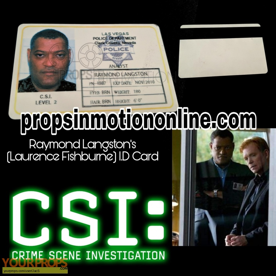 CSI  Crime Scene Investigation original movie prop