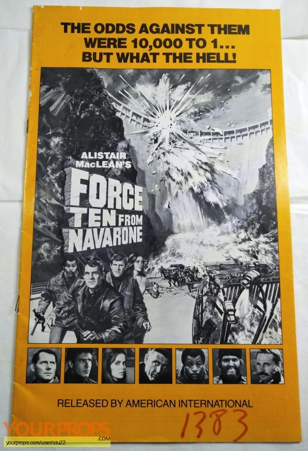 Force Ten From Navarone original production material