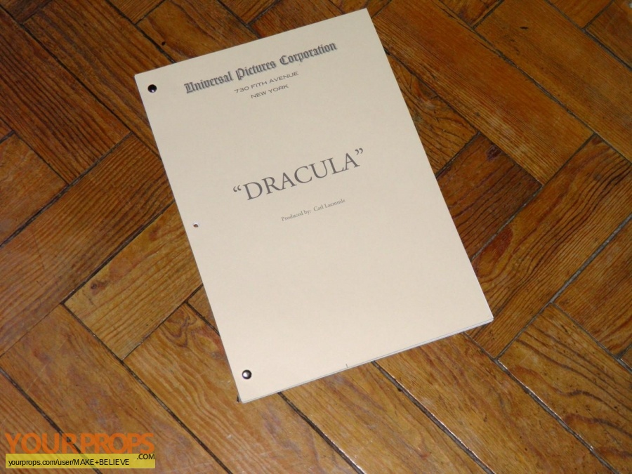 Dracula replica production material