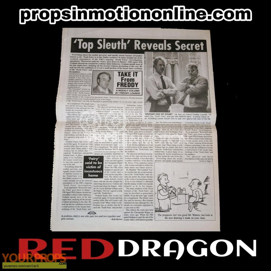 Red Dragon original movie prop
