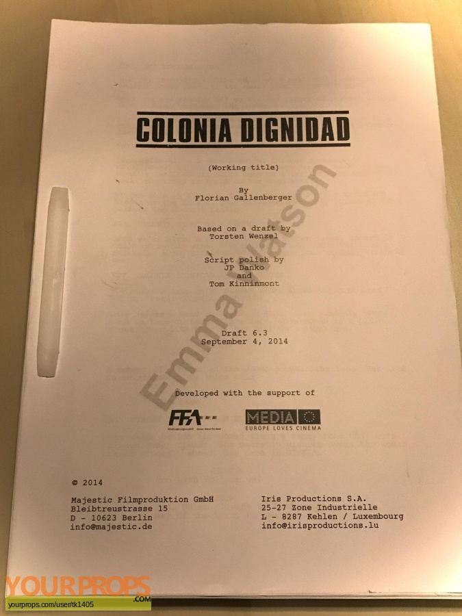 Colonia Dignidad original production material